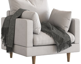 3D Temple and Webster Silas Armchair with Cushions