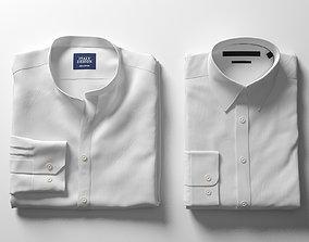 3D Folded White Shirts