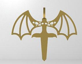 3D print model Vampire Sword Pendant
