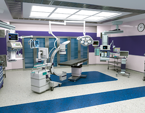 3D model Surgical-Operation Room