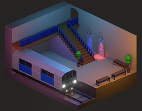 3D model low poly isometric