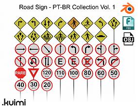 Road Sign - PT-BR Collection Vol 1 3D model PBR