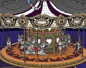 carrousel game model VR / AR ready