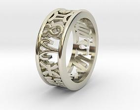 3D printable model 59size Constellation symbol ring