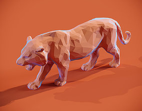 3D print model Low poly Tiger