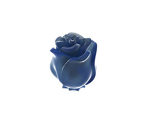 Half-folded rose flower 3D print model