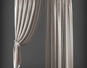low-poly Curtain 3D model 223