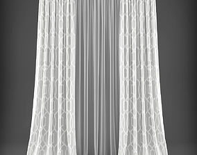 VR / AR ready Curtain 3D model 328