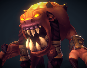 Demon Living Bomb - Low Poly Hand Painted 3D model