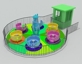 3D model Tea Cup Ride