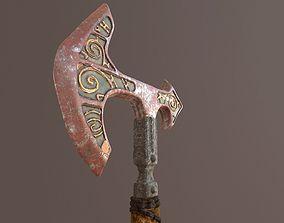 3D model Battle Axe Tris Textured
