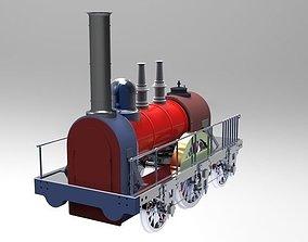 3D model Steam Locomotive