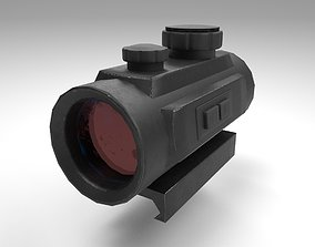 Red Dot - CQB Sight - Weapon Attachment - 3D model