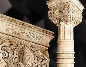 Andalusian Cpital Columns in Islamic 3D spain
