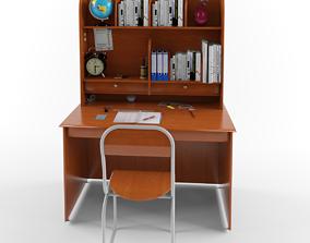 Desk Low poly 3D asset