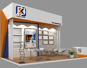 3D Exhibition Stand Booth 24sqm