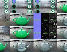 Raindrops Texture Collection 3D model