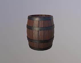 Wooden Barrel 3D asset realtime fantasy
