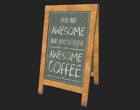 3D asset City Shop Blackboard Sign