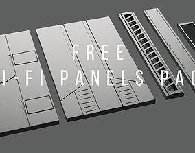 3D model kitbash Sci-Fi-Panels-Pack 6
