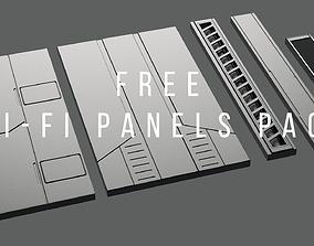 3D model Sci-Fi-Panels-Pack 6