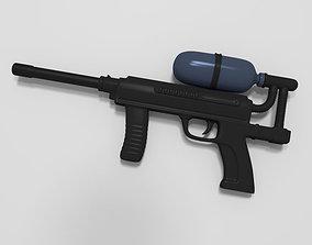 Paint Ball Gun 3D asset VR / AR ready