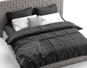 FLEXTEAM MARCEL and black bedclothes 3D model