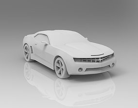 3D asset Chevrolet Camaro low poly rally