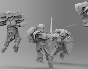 3D print model Knights of Roma - Rapid Assault Squad
