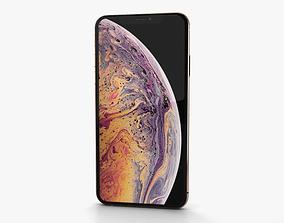 Apple iPhone XS Max Gold 3D model