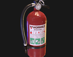 3D asset Fire Extinguisher game ready