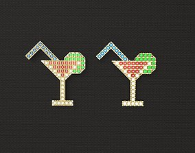 1980s style Cocktail Pin v1 3D printable model