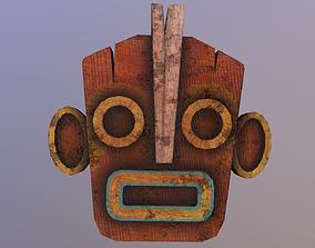 Low Poly Tiki Mask 3D asset