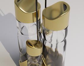 3D asset Salt and pepper shaker set