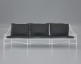 3D model PBR Breton White Metal Sofa