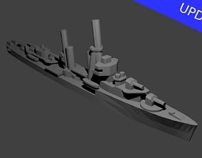 3D printable model US Mahan Class Destroyer Warship