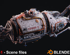 URAN Spacecraft - Scene files 3D model