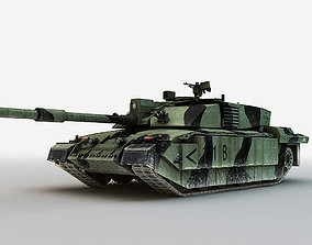British MBT Challenger 2 3D model