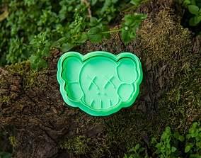 KAWS Cookie Cutter 3D print model