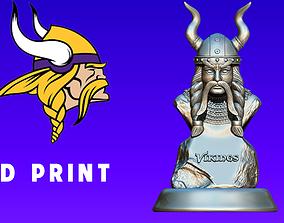 Logo Minnesota Vikings - NFC - Wood model - CNC