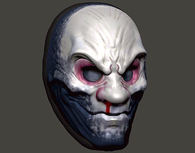 The While Death mask from Payday 2 3D print model