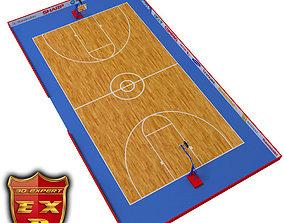 3D basketball Basketball court