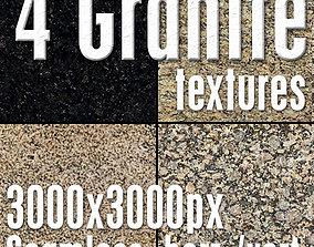 4 High Res Seamless Granite Textures Vol02 part2 3D model