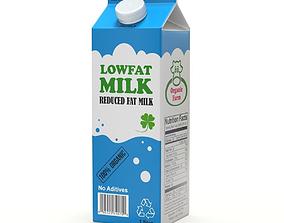 3D model Milk carton map