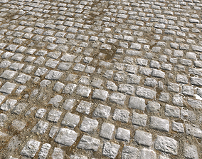 3D model Cobblestone Road 8 PBR