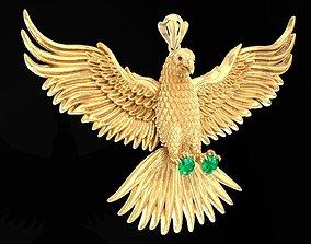 Eagle Pendant 1574 Solid 3D printable model