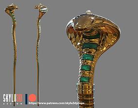 Aladdin 2019 - Jafar Cobra Staff 3D Print STL