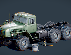 Russian Truck Ural 4320 Military Pack 3D