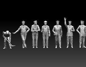 3D print model railroad staff