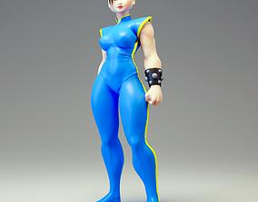 Chun Li Fan art Model for 3d printing female